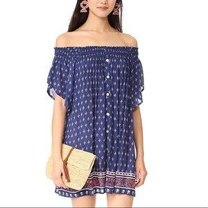 Faithfull the Brand Deia OTS Mini Dress Small